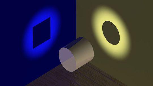 Métaphore du cylindre : objet ayant à la fois les propriétés d'un cercle et d'un rectangle
