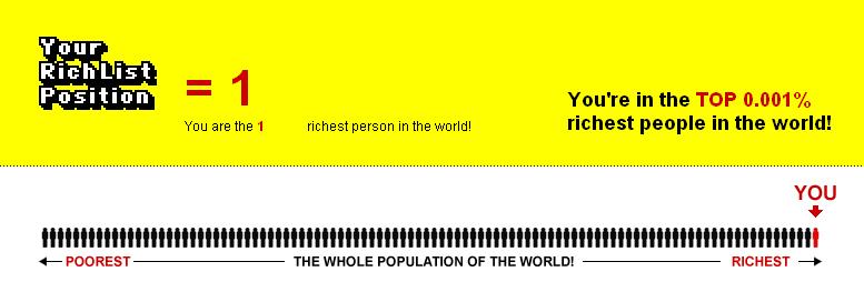 Faites vous partie des plus riches du Monde ?