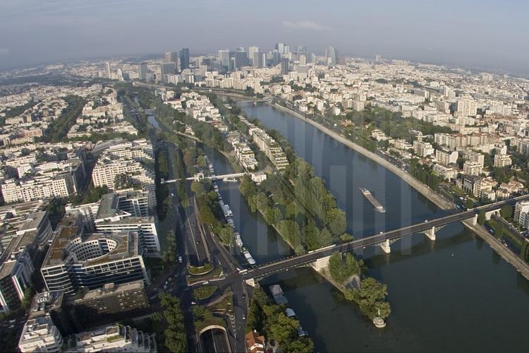 Vue de la banlieue ouest de Paris