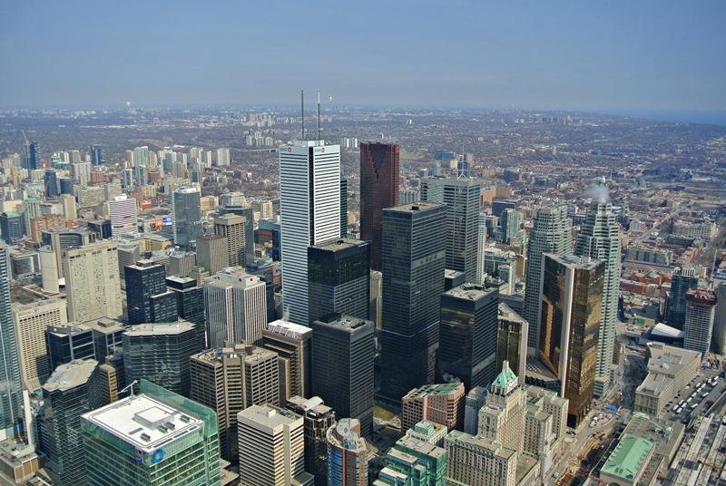 Vue de Toronto depuis la CN Tower